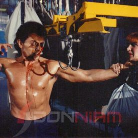 Don Niam and Cynthia Rothrock Eye Hook Photo Undefeatable